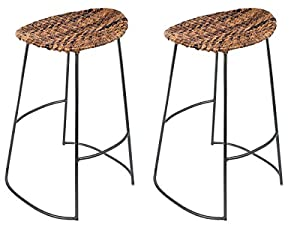Amazon Com Birdrock Home Industrial Seagrass Bar Stool