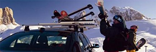 Universal Ski Snowboard Carrier Rack Pair fits most Vehicles Equipped with Cross Bars