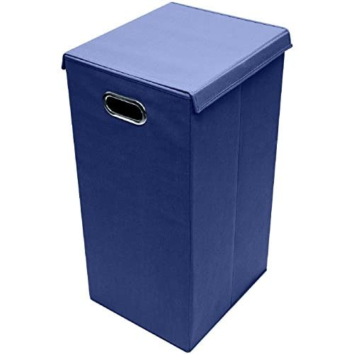 New Laundry Hamper With Sorter Foldable With Lid Lid Portable Easy Transport Single Navy Blue - Skroutz hot sale
