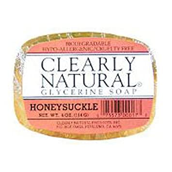 Clearly Natural Bar Soap, Honeysuckle, 4 oz, 3 pk