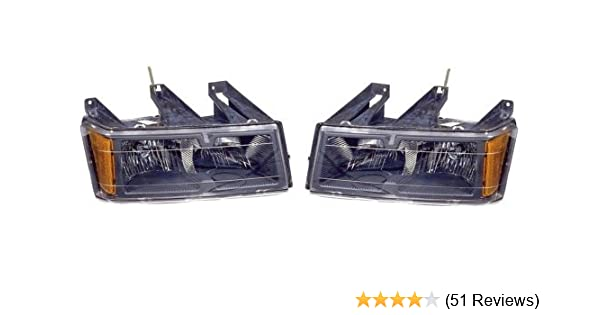 Amazon.com: Chevy Colorado/GMC Canyon Replacement Headlight Assembly (Black Bezel) - 1-Pair by AutoLightsBulbs: Automotive