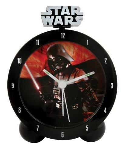 Star Wars - Clone Wars Jugend-Uhr Darth Vader Wecker mit leuchtendem Schwert und Vader Sound 18x7x24 cm - 23241