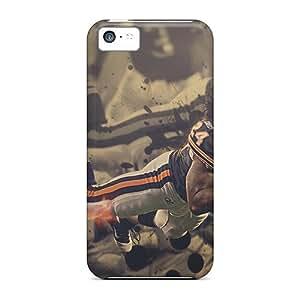 ChristopherWalsh Iphone 5c Great Hard Phone Cases Custom Realistic Chicago Bears Pattern [Mnk15733aHQM]