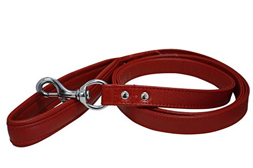 - Leather Padded Leash, Padded Handle, Double-Ply, 6' x 1