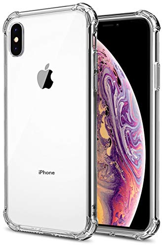 Comsoon iPhone Xs Case, iPhone X case, [Shock Absorption] Clear Soft TPU Bumper Slim Protective Case Cover with Camera Drop Protection for Apple iPhone Xs(2018)/ iPhone X (2017) (Clear)