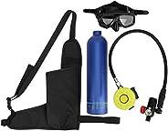Scuba Diving Equipment, 1L Diving Oxygen Tank Breath Underwater Device, 15-20Mins Refillable Capability Empty