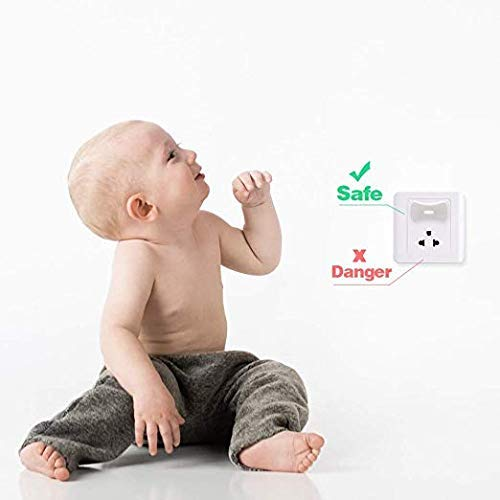 24 Plugs + 4 Keys Outlet Plug Covers Electric Socket Cover for Baby Safety,Plug Protectors Child Proof KRD Baby Outlet Covers Baby proofing