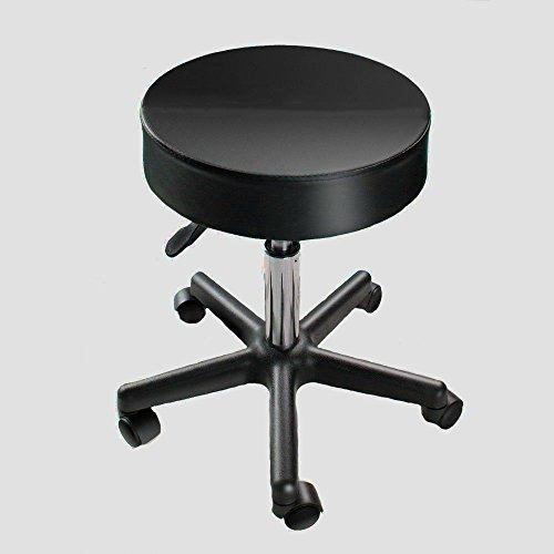 Upholstered Vanity Swivel Stool (Swivel Stool with Wheels Chair Metal Swivel Task Stool Modern Upholstered Small Portable Vanity Rolling Adjustable & e Book by AllTim3Shopping)