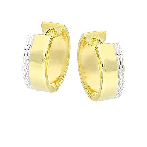 a0781711b7ad 85% OFF MyGold de mujer pendientes de aro pendientes oro amarillo oro  blanco Oro Bicolor ...