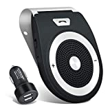 Bluetooth Car Speakerphone Kits,Bluetooth 4.1 Hands-Free Motion AUTO-ON Car Kit Stereo Music Speaker