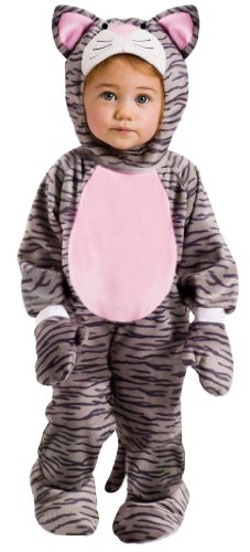 [Little Striped Kitten Costume - Baby Cat Costume (6-12 months with Bracelet for Mom)] (Costumes For Moms And Babies)