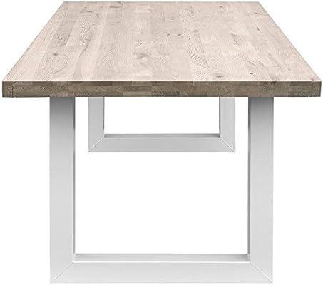COMIFORT Mesa Comedor - Mueble de Oficina de Roble Macizo ...
