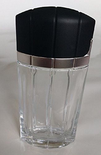 7 Degrees North 100 ml (3.4 oz) Large Clear Thick Glass Empty, Refillable Cologne/Perfume/Splash Replacement Spray Bottle with Black Hinged Lid and Silver Fine Mist Atomizer