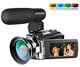 Best Video Camera 4ks - 4K Camcorder,Ansteker 48MP 30FPS Ultra HD WiFi Video Review