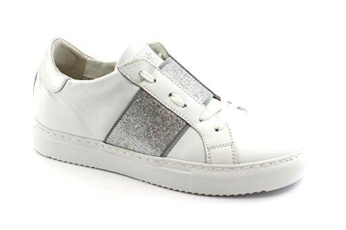 Espadrille Grunland SC3851 Blanc Gi HOAN Chaussures Femme Argent Bianco Lacets rpqw1vrYZn