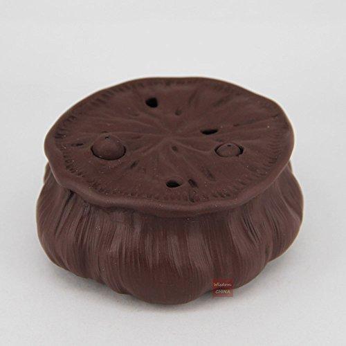 Chinese Yixing tea pet decoration lotus design tea moscot teapot lid - Moscot