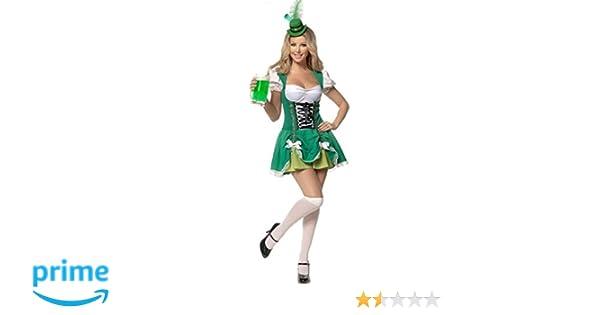 señoras Aimerfeel irlandés traje de criada cerveza del traje del tamaño XL (46-48)