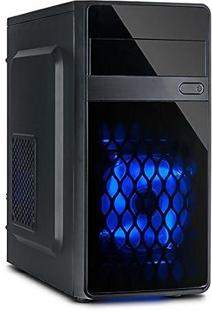 Inter-Tech MA-01 Micro Carcasa de Ordenador Micro-Tower Negro - Caja de Ordenador (Micro-Tower, PC, uATX, Negro, Azul, Ventiladores de la Caja)