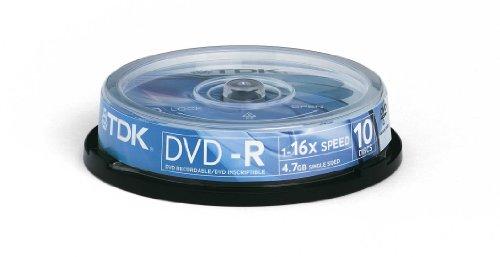 Tdk- - 10 X Dvd-r 4.7 Gb 16x - Spindle - Storage Media (Tdk Wireless Headphones)