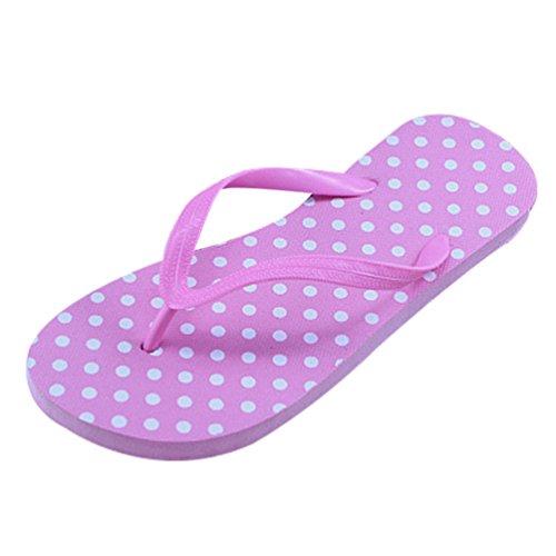 Heheja Sandalias para Mujer Verano Unisex Adulto Chanclas Zapatillas de Playa Pink