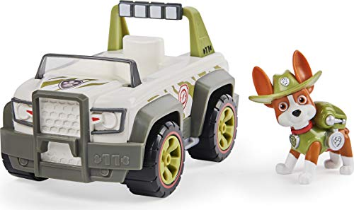 PAW Patrol Tracker's Jungle Cruiser Vehicle with Collectible Figure, for Kids Aged 3 and Up