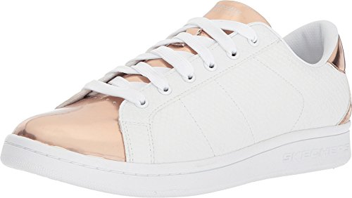 Skechers Street Women's Omne - Jungle Jog White/Rose Gold 8 M US (Snake Matte Footwear)