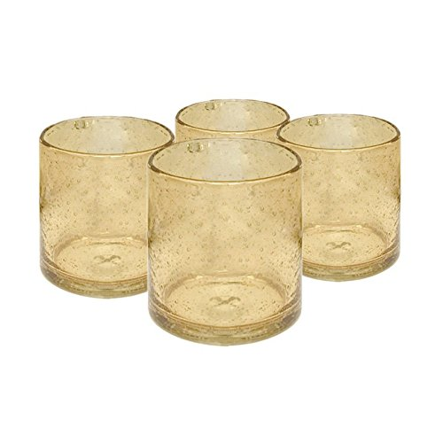 Artland Iris Double Old Fashioned Glasses, Citrine, Set of (Classic Double Old Fashioned)