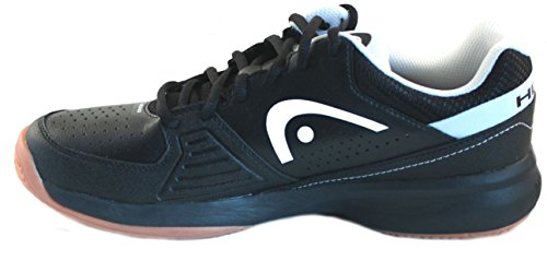 HEAD Men's Grid 2.0 Low Racquetball/Squash Indoor Court Shoes (Non-Marking)(Black/White) 11.0 (D) US