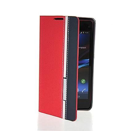 Amazon.com: LIKESEA (Red Navy) Stylish Folio Case Magnetic ...