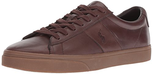 Polo Ralph Lauren Men's Sayer Sneaker, Dark Brown, 8 D US