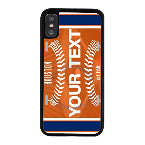 - BRGiftShop Customize Your Own Baseball Team Houston Rubber Phone Case for Apple iPhone XR