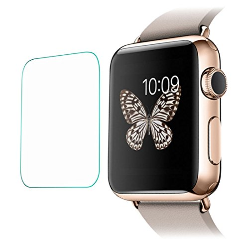 Joylive Tempered Glass LCD Screen Protective Protector Film Compatible with Apple Watch 38mm
