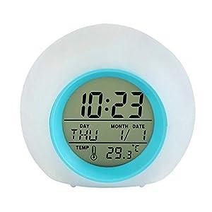 lancardo–Reloj despertador de noche LED temperatura horario Tiempo Función calendario de semana, Color A elegir 4