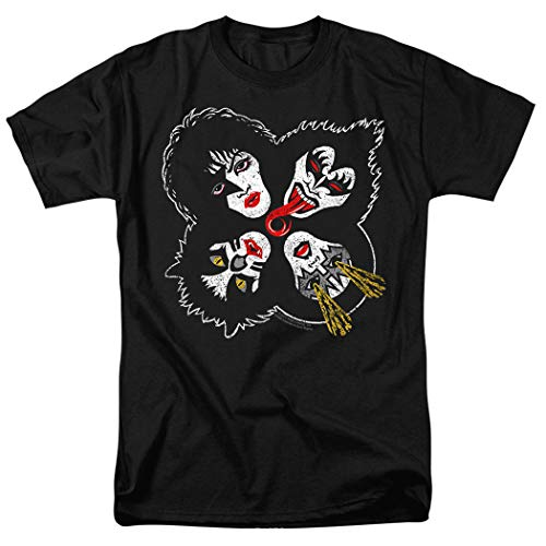 KISS Rock & Roll Over Gene Simmons Rock Band T Shirt & Stickers (Large) Black