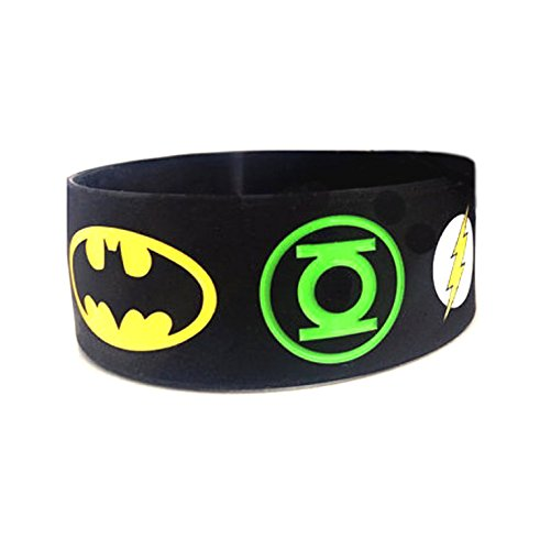 - DC Comic SUPER HERO LOGOS Rubber Bracelet WRISTBAND
