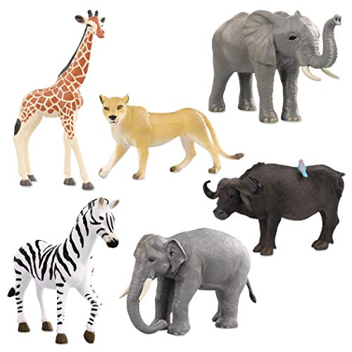 - Terra by Battat - Wild Life Set - Realistic Plastic Animal Toy Figures with Elephant Toys for Kids 3+ (6 Pc)