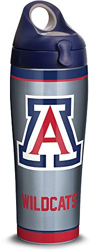 Tervis 1316153 Arizona Wildcats Tradition Stainless Steel Insulated Tumbler with Lid, 24oz Water Bottle, Silver ()