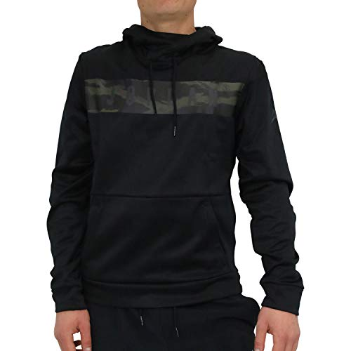 (Jordan Nike Mens 23 Alpha Therma Pull Over Hoodie Black/Dark Smoke Grey AO8863-010 Size Large)