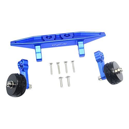Rear Bar Stress - DDLmax Rear Double Wheel Wheelie Bar Kit for Traxxas RUSLTLER 4X4 VXL 67076-4 RC Car