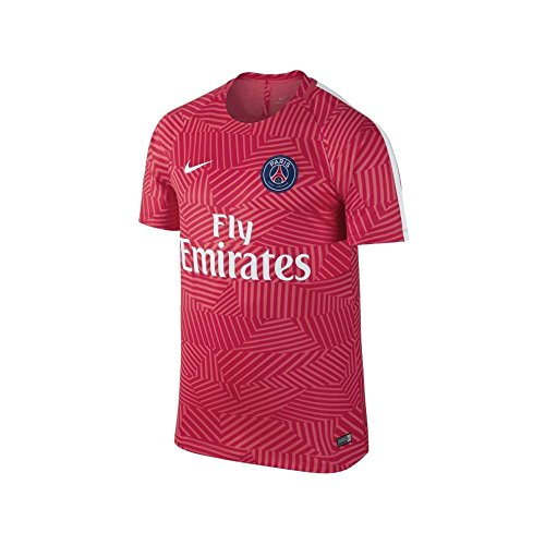 17bdd7104 Nike Mens Paris-Saint Germain Pre-Match Jersey-EMBER GLOW 50%OFF ...