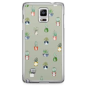 Samsung Note 4 Transparent Edge Phone Case Green Cactus Phone Case Green Cactus Pattern 2D Note 4 Cover with Transparent Frame