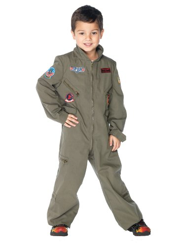 Hitman Halloween Costume (Leg Avenue Top Gun Flight Suit, Large,)