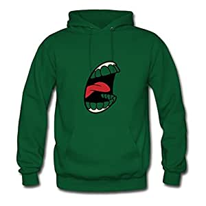 Screaming Mouth (dd)++ Long-sleeve Shirts X-large Women Personalized Green