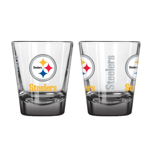 Steelers Shot Glasses - Boelter Brands NFL Pittsburgh Steelers Elite Shot Glass, 2-ounce, 2-Pack