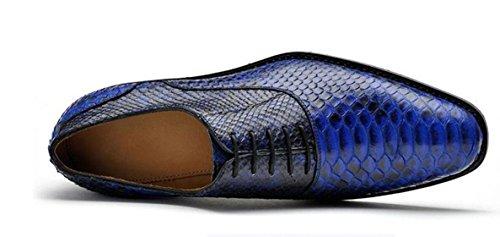 Nbwe Pattini Di Vestito Fatto A Mano Su Misura Degli Uomini Di Fascia Alta Scarpe In Pelle Di Lusso Nobili Pattini Di Banchetto Derby Azzurro