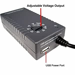 Universal 100w Laptop Power Adapter, Bonus HP and Dell Tip, for Home or Office with USB Charger