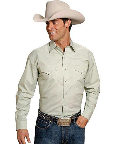 Stetson Men's Solid Snap Oxford Shirt Green ()