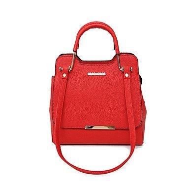Frauen Für Outdoor Braun Pink Grau Schwarz Rot alle zwanglosen Rot Red Jahreszeit Klt pailletten PU reißverschluss Taschen H0gzrqH