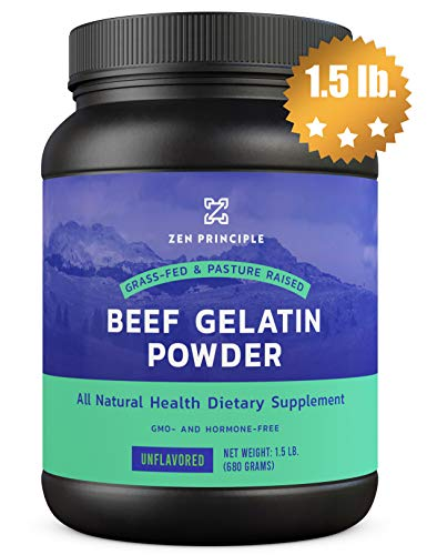Grass-Fed Gelatin Powder, 1.5 lb. Custom Anti-Aging Protein for Healthy Hair, Skin, Joints & Nails. Paleo and Keto Friendly Cooking and Baking. Type 1 and 3 Collagen. GMO and Gluten Free. Unflavored.