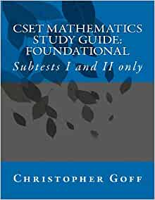 Sample Test Questions for CSET: Mathematics Subtest I